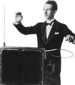 Leon Theremin playing a Theremin