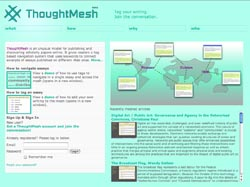 A screenshot from 'ThoughtMesh